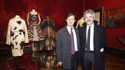 Pitti, cena nella Sala Bianca e mostra Capucci.. Dario Nardella e Leonardo Bassilichi   (Umberto Visintini / New Press Photo)