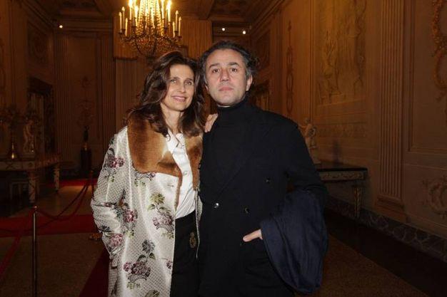Pitti, cena nella Sala Bianca e mostra Capucci. Doris Kovacs e Felice Limosani   (Umberto Visintini / New Press Photo)