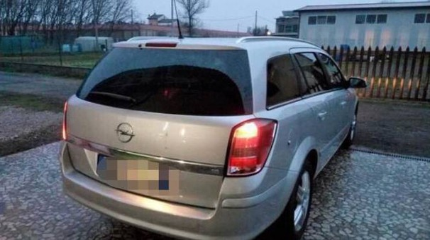 L'Opel Astra rubata