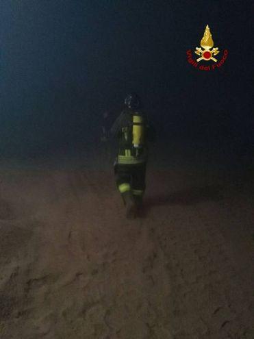 Italcol (Castelfiorentino), l'intervento dei vigili del fuoco