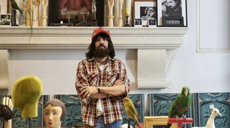 Alessandro Michele, direttore creativo Gucci (foto Peter Schlesinger)