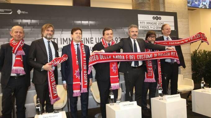Da sinistra Ciuoffo, Cavicchi, Nardella, Calenda, Bassilichi, Marenzi e Schmidt