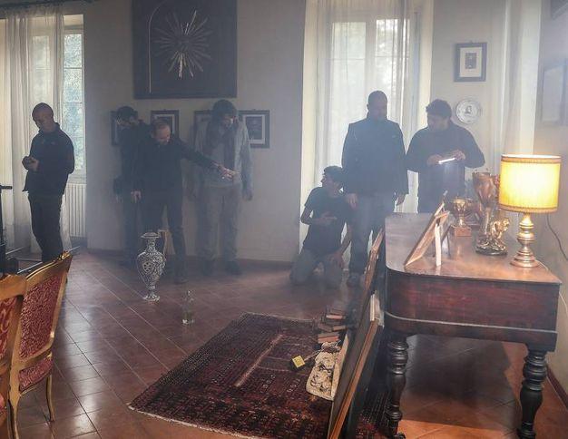 Il set a Villa Cattani Stuart (Fotoprint)