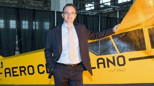 Il presidente dell'Aeroclub Antonio Giuffrida