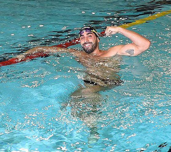 Magnini apre con il suo tuffo la piscina Pentathlon (Fotoprint)