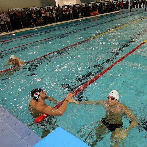 Inaugurazione della piscina del Penthatlon, Magnini (Fotoprint)