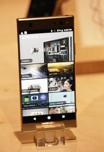 Xperia XA2 Ultra phone (Ansa)