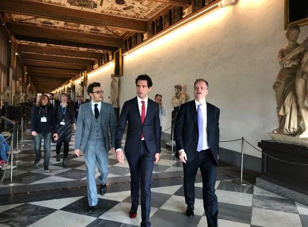 Palazzo Vecchio, Firenze. Mika riceve le chiavi della città dal sindaco Dario Nardella (Marco Mori/New Press Photo)