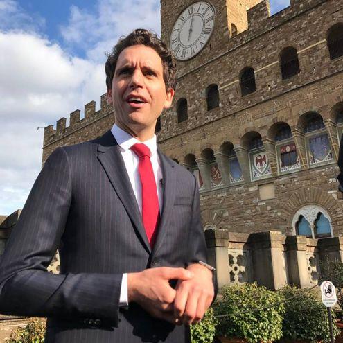 Mika in piazza Signoria  (Marco Mori/New Press Photo)