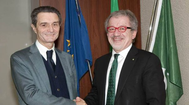 Attilio Fontana con Roberto Maroni
