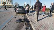 L'auto danneggiata nell'incidente (foto Zeppilli)
