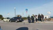 L'inseguimento è proseguito sul Lungomare nord (foto Zeppilli)