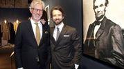 Il presidente Claudio Del Vecchio con il figlio Matteo (Pressphoto)
