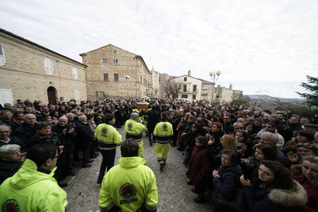 L'addio a Massimo Pennesi (foto Zeppilli)