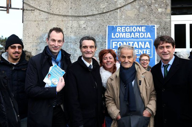 Attilio Fontana, prima uscita pubblica al mercato di San Maurizio di Cologno Monzese