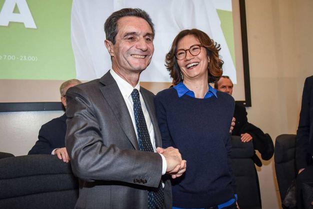 Attilio Fontana e Mariastella Gelmini
