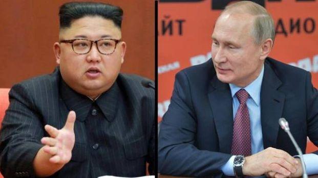 Kim Jong-un e Vladimir Putin (Ansa)