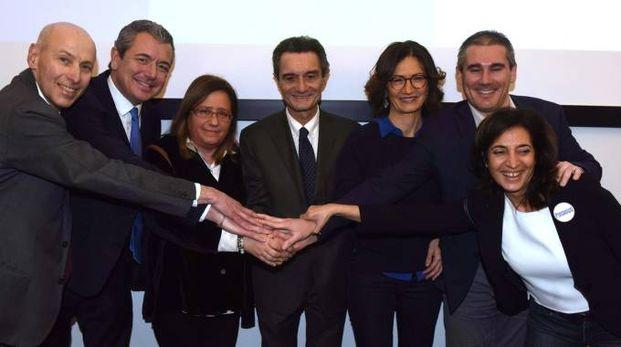 Il candidato governatore per il centrodestra Attilio Fontana, 65 anni, ex sindaco di Varese (Newpress)