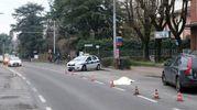 Per i rilievi è intervenuta la polizia Municipale ma al momento non ci sarebbero testimoni (Foto Schicchi)