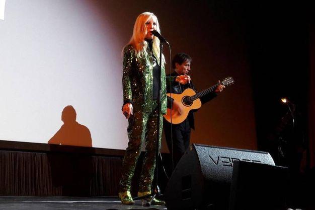 Patty Pravo a Firenze per l'evento organizzato da Cuoio di Toscana in occasione di Pitti Uomo (foto New Pressphoto)