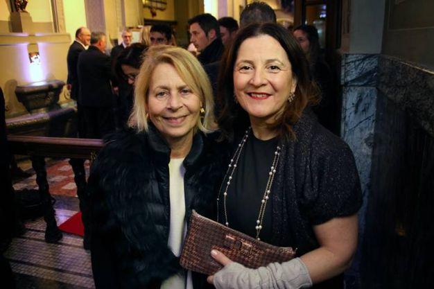 Isabella D'Antono e Cristina Giachi Patty Pravo a Firenze all'evento organizzato da Cuoio di Toscana in occasione di Pitti Uomo (foto New Pressphoto)