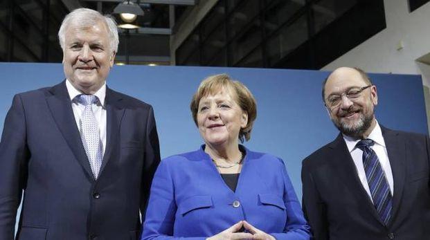 Merkel, Schulz, Seehofer (Ansa)