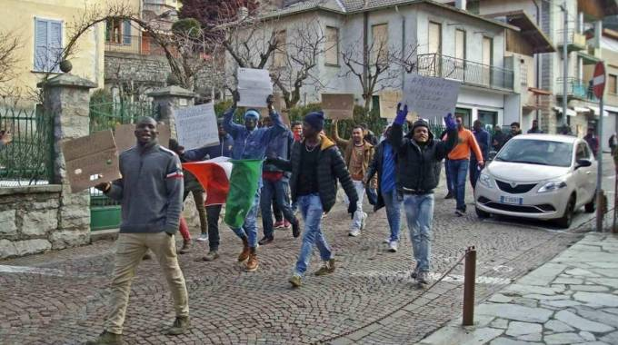 La protesta a Esino