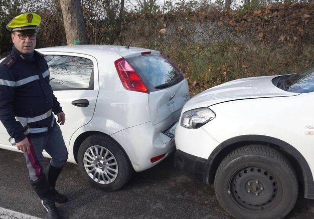 L'incidente causato dai ladri nel tentativo di fuga (foto Migliorini)