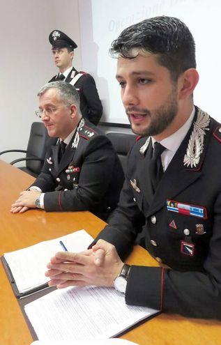 Il tenente Colonnello Sergi e il Capitano Califano (foto Migliorini)