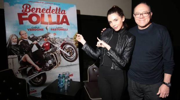 Carlo Verdone con Ilenia Pastorelli (Giuseppe Cabras / New Press Photo)