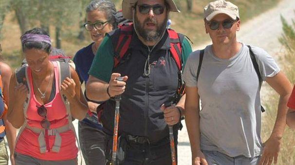 L'assessore regionale  al Turismo, Stefano Ciuoffo, con l'assessore comunale  di Siena, Sonia Pallai: Regione e Comuni collaborano  per la Via Francigena