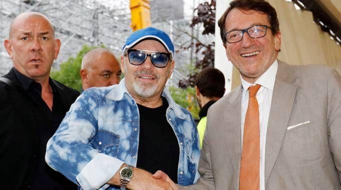 Vasco Rossi e Giancarlo Muzzarelli (foto Fiocchi)