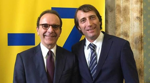Alessandro Giugni assieme al leader di Energie per l'Italia,  Stefano Parisi