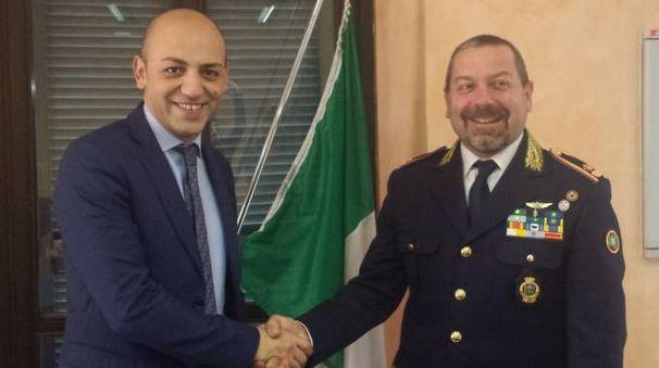 Da sinistra, il sindaco Francesco Passerini e il comandante Marco Simighini
