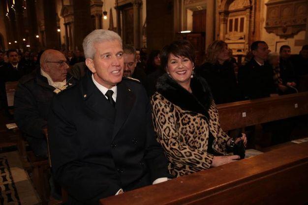 Santa Croce, il concerto dell'Accademia Vittore Veneziani per gli 80 anni dell'Istituto di scienze militari aeronautiche. Nella foto il generale Settimo Caputo (Cabras/New Press Photo)