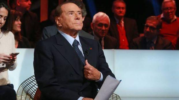 Silvio Berlusconi ospite della trasmissione Kronos (Lapresse)