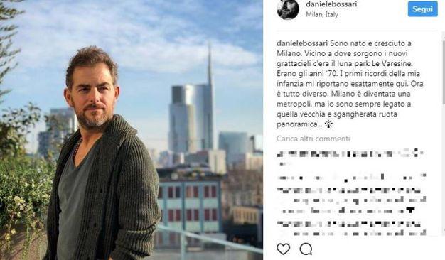 Bossari è nato a Milano nel 1974 (Instagram)