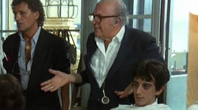 Federico Fellini e Sergio Rubini