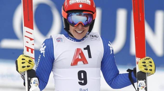 Federica Brignone vince il SuperG di Bad (Ansa)