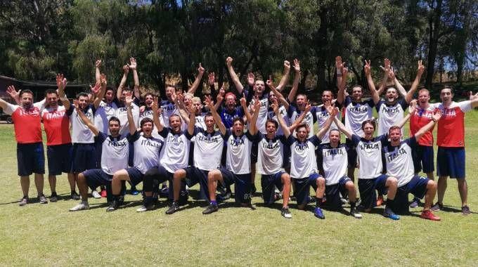 La nazionale italiana di ultimate frisbee a Perth