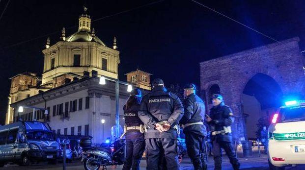 Controlli anti-spaccio in zona Colonne (La Presse)