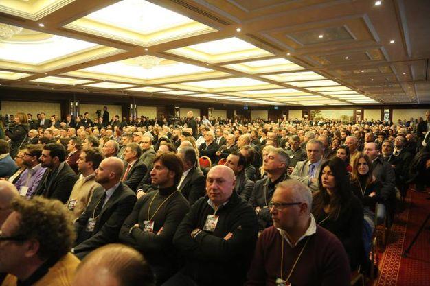 La sala del Carlton che ha ospitato l'assemblea nazionale (foto Schicchi)