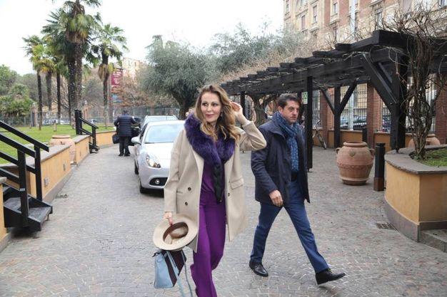 L'arrivo di Daniela Santanché (foto Schicchi)