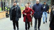 L'arrivo di Giorgia Meloni (foto Schicchi)