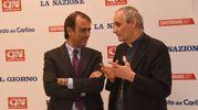 Andrea Cangini con monsignor Zuppi (foto Schicchi)