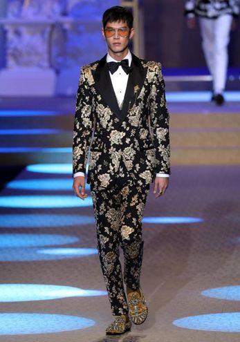 La sfilata Dolce&Gabbana (Ansa)