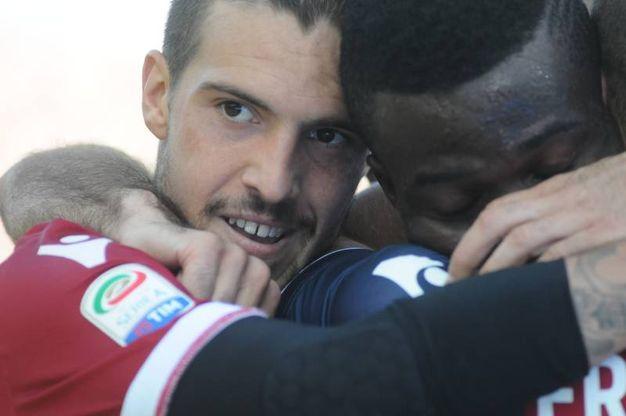 L'11 settembre 2016, nella gara interna di Serie A contro il Cagliari, mette a segno il suo primo gol con la maglia del Bologna (foto Schicchi)