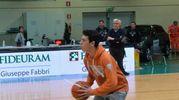 Durante il riposo della partita fra gli arancioneri e la Virtus Padova, il Magic Shot è stato realizzato da un giovanissimo del settore giovanile dei Tigers (Foto Frasca)