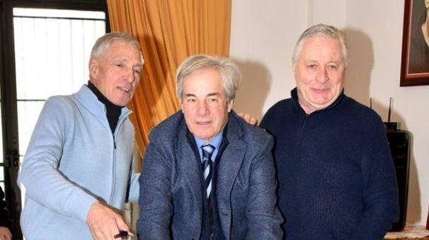 Da sinistra Moser, Ricciarini e Boifava