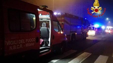 Vigili del fuoco in azione a Cassina de' Pecchi